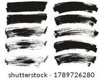 flat paint brush thin long  ...   Shutterstock .eps vector #1789726280