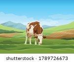 vector cartoon landscape with...   Shutterstock .eps vector #1789726673