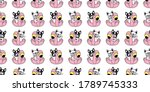 dog seamless pattern french... | Shutterstock .eps vector #1789745333