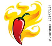 extremely super hot red chilli... | Shutterstock .eps vector #178977134