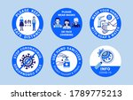 covid 19 labels. modern signs... | Shutterstock .eps vector #1789775213