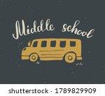 back to school calligraphic... | Shutterstock . vector #1789829909