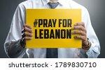 man holding hashtag pray for... | Shutterstock . vector #1789830710