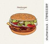 hand drawn illustration of... | Shutterstock .eps vector #1789833389
