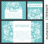 set of invitations | Shutterstock .eps vector #178983659