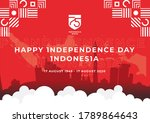 happy independence day... | Shutterstock .eps vector #1789864643