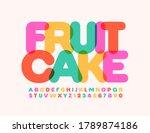 vector bright emblem fruit cake.... | Shutterstock .eps vector #1789874186