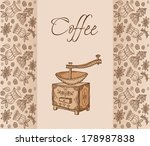 coffee. background  | Shutterstock .eps vector #178987838