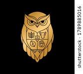 modern owl crest family logo... | Shutterstock .eps vector #1789885016