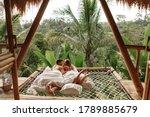 Happy Travel Couple On Hammock...