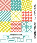 vector set of nine backgrounds... | Shutterstock .eps vector #178990526