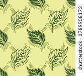 seamless vector leaves pattern... | Shutterstock .eps vector #1789908173