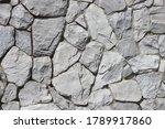 White Color Of Stone Brick...