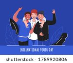 cheerful young boys in photo... | Shutterstock .eps vector #1789920806