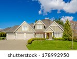 luxury house at sunny day in... | Shutterstock . vector #178992950