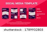 social media pack. business...   Shutterstock .eps vector #1789932803