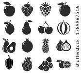 fruit icon pack vector... | Shutterstock .eps vector #1789967516