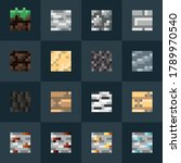 a set of 8x8 pixel tiles for pc ...