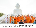 Young Buddhists In Orange...