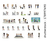 business woman in different... | Shutterstock .eps vector #178997690