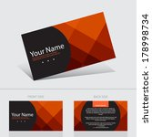 business card abstract... | Shutterstock .eps vector #178998734