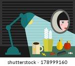 girls room. vector illustration. | Shutterstock .eps vector #178999160