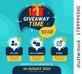 giveaway steps for social media ... | Shutterstock .eps vector #1789994540
