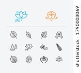botany icons set. petunia and... | Shutterstock .eps vector #1790003069