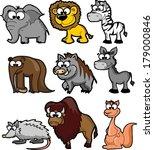 set of cute cartoon animals    Shutterstock .eps vector #179000846