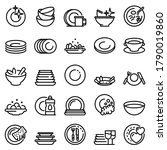 Plate Icons Set. Outline Set Of ...