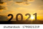 greeting card 2021 silhouette...   Shutterstock . vector #1790021219