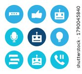 chatbot icon set and robot love ...