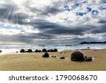 Moeraki Boulders Is A Group Of...