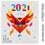 2021 happy new year vector... | Shutterstock .eps vector #1790077820