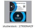 visiting card design 12131415...   Shutterstock .eps vector #1790096429