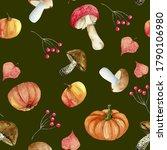 seamless pattern of watercolor...   Shutterstock . vector #1790106980