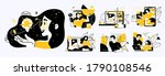 business concept illustrations. ... | Shutterstock .eps vector #1790108546
