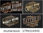 set of 4 vintage logos... | Shutterstock .eps vector #1790114543