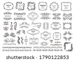 calligraphic design elements .... | Shutterstock .eps vector #1790122853
