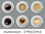 coffee mug top view collection... | Shutterstock .eps vector #1790122916