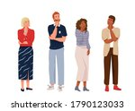think people in full length....   Shutterstock .eps vector #1790123033