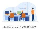 flight control center isolated... | Shutterstock .eps vector #1790123429
