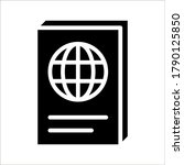 passport icon vector for any... | Shutterstock .eps vector #1790125850