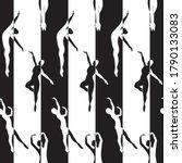 vector ballet dancers in black... | Shutterstock .eps vector #1790133083
