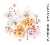 Watercolor Boho Blush Flower...