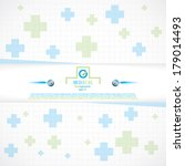 abstract blue green grid... | Shutterstock .eps vector #179014493