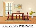 dinning room interior home... | Shutterstock .eps vector #1790150630