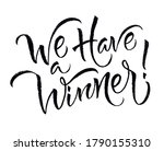 we have a winner  card. hand... | Shutterstock .eps vector #1790155310