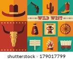 Wild West Icons.vector...
