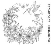 vector coloring ornamental... | Shutterstock .eps vector #1790184236
